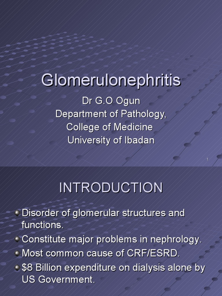Glomerulonephritis Medical Student Lecture 2