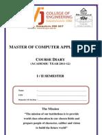 i & II Semester Course Diary 2011-12