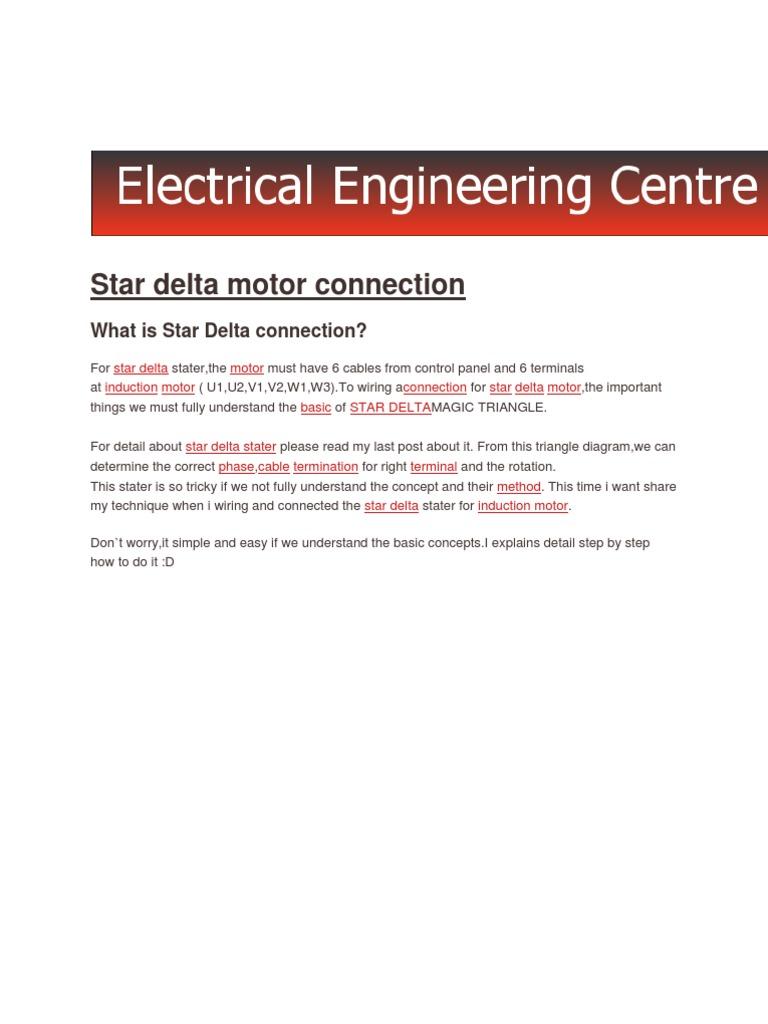 Electricneutron-Star Delta Motor Connection   Electricity ...