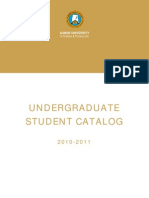 Undergraduate Student Catalog en 2010 2011 2