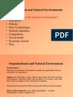 Ch 3 - Organizational and Natural Enviornments