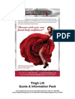 Thigh Lift Information Pack and Fee Guide