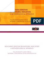 Measuring Sensitive Behavioural Indicators - A Methodological Approach