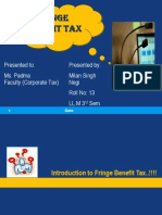 Fringe Benifit Milan Negi Corp Tax