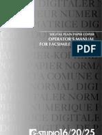 GD-1060 Operator's Manual Fax