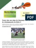 Treze vira em cima do Guarany e sai da zona de rebaixamento da Série C