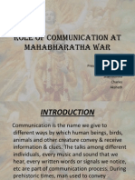 Role of Communication at Mahabharatha War (2)
