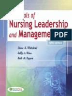 Unit 1 Chapter 2 Nursing Leadership and Management