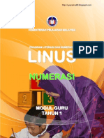 Modul Guru Linus Numerasi Tahun 1 (BM)