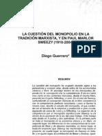 Guerrero diego Monopolio en tradición marxista