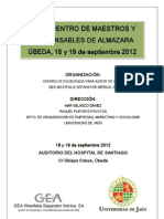 Programa Provisional VI Encuentro de Maestros y Responsables de Almazara