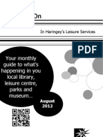 What's on in Haringey Libraries August 2012