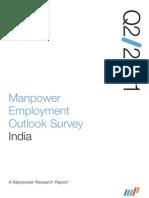 Manpower Employment Outlook Survey India