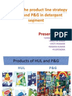 Compare the Product Line Strategy of HUL And