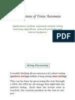 application of finite automata