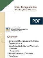Government Reorganization Jan 2011