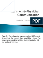 Pharmacist Physician Communication