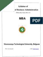 MBA 2012-13 Syllabus