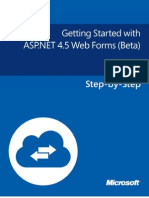 Getting Started With ASP.net 4.5 Web Forms - Beta