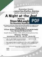 Steve McLaughlin ValleyCats Invitation