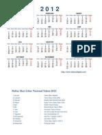 Ka Lender 2012 Excel