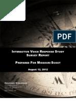 MO-Sen, MO-Gov Chilenski Strategies for Missouri Scout (Aug. 2012)