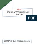 Session 3 Strategy Formulation - Corporate Level Strategy Alternatives