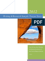 Research & Writing Sample, 2012, Tonyae Stacy