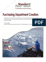 Purchasing Department Creation