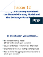 The Open Economy Revisited &the Mundell-Fleming Model and the Exchange-Rate Regime