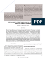 DEVELOPMENT OF EMITTANCE ANALYSIS SOFTWARE FOR