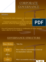 Presentation on Corporate Governance