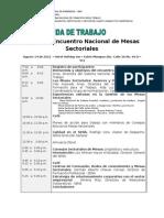 Agenda 2o Encuentro Mesas Sectoriales