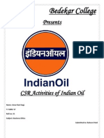 Csr Activities Carried Out by Indian Oil Corporation Ltd