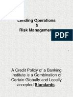Lending Operation and Risk Management Lecture 1