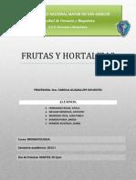 Informe Frutas y Hortalizas