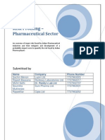 Risk in Pharma Sector