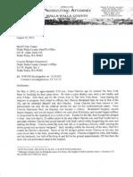 Prosecutor's letter declining prosecutino of John Saul