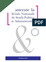 Admitere Master SNSPA