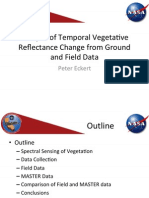 Analysis of Temporal Vegetative Reflectance Change From Ground