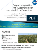 SEBAL Evapotranspiration Model With Automated Hot and Cold Pixel Selection