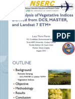 Analysis of Vegetative Indices Derived from DCS, MASTER, and Landsat 7 ETM+