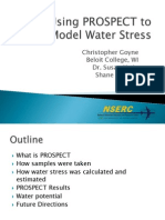 Using PROSPECT to Model Water Stress