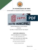Auditoria Ambiental Rastro Municipal de Tepic