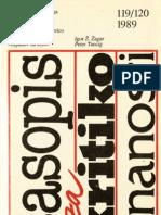Časopis za kritiko znanosti 119/120-1989