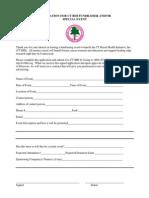 CTBHI - Application for Fundraiser