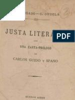 JUSTA LITERARIA. Obligado- Oyuela Sobre El Paisaje Nacional