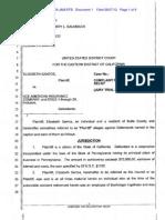 SANTOS v. ACE AMERICAN INSURANCE COMPANY Complaint