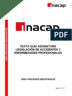 """Manual de """"Legislación de accidentes del trabajo y enfermedades profesionales""""."""