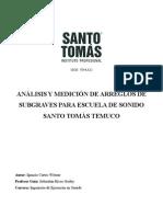 ANÁLISIS Y MEDICIÓN DE ARREGLOS DE SUBGRAVES PARA ESCUELA DE SONIDO SANTO TOMÁS TEMUCO